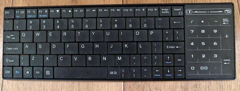 Banggood: Портативная Bluetooth клавиатура с сенсорной панелью
