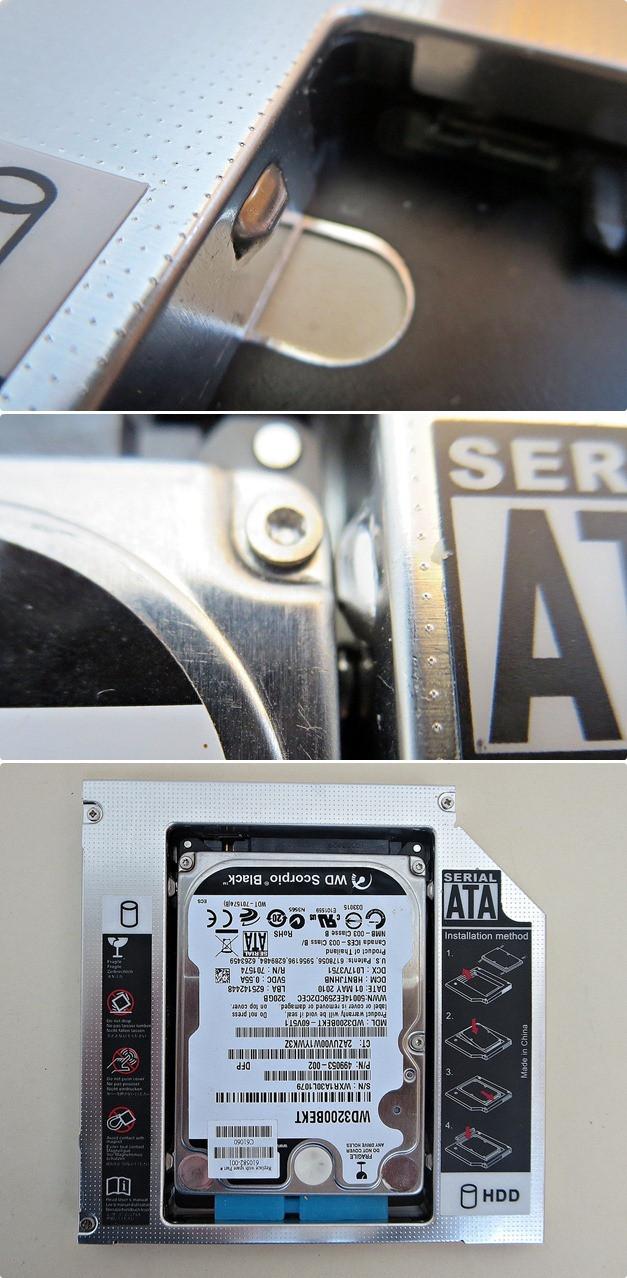 Banggood: Карман для ноутбука под 2.5' SSD/Sata винт (вместо привода) 12.7 мм