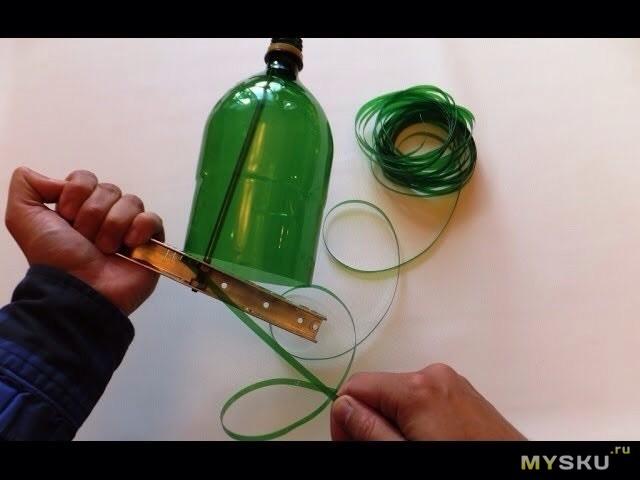 Нить из пластиковых бутылок своими руками