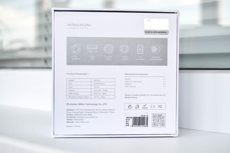 Aliexpress: Nillkin Hermit - 3 в 1: Беспроводное зарядное устройство Qi, USB 3.0 Hub, мощная проводная usb зарядка