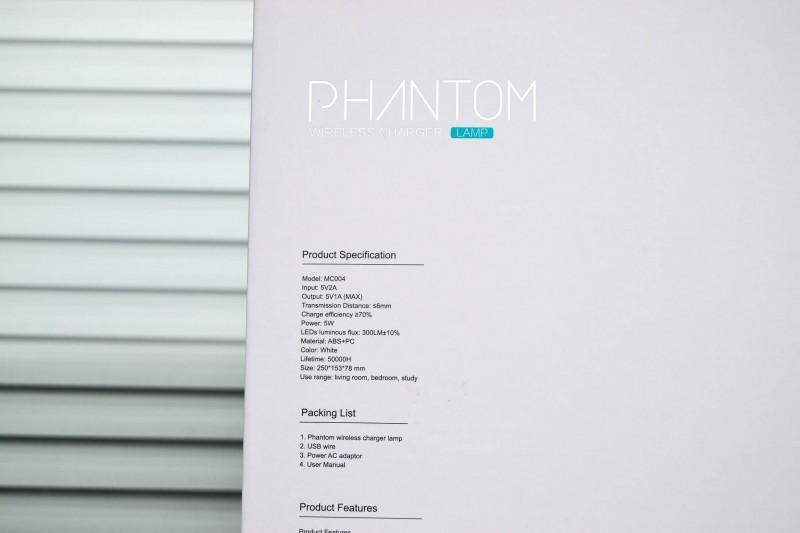 Aliexpress: Nillkin Phantom - настольная лампа с модулем беспроводной зарядки