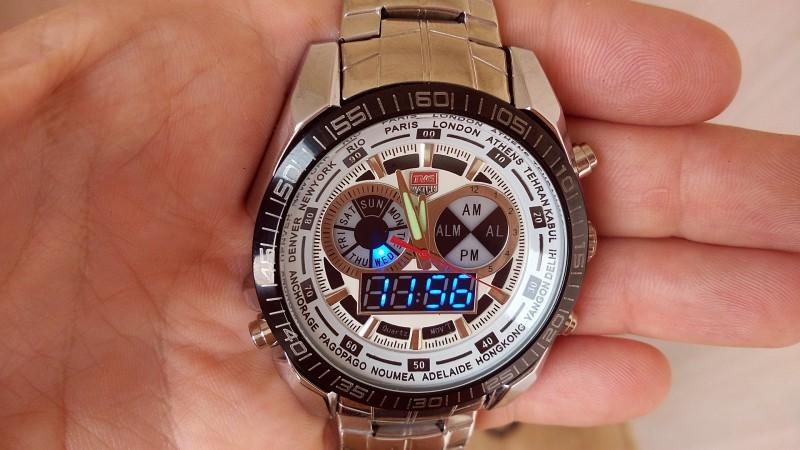 Другие - Китай: Часы TVG KM-468 с двумя типами индикации времени (с аналоговым и цифровым циферблатом)