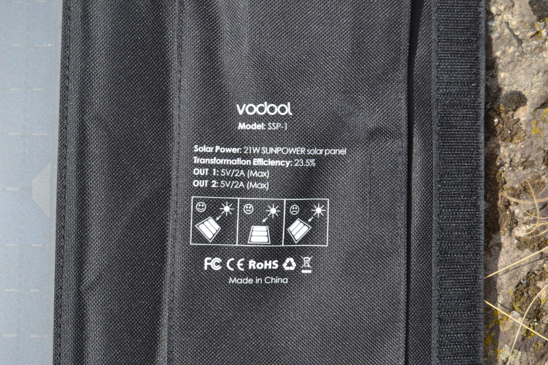 Магазины Китая: Зарядная солнечная панель Vodool SSP-1 (21W): бесплатная энергия для ваших устройств