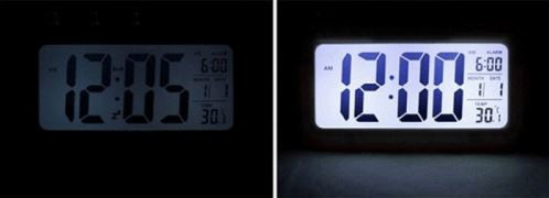 Настольные часы с LED подсветкой и датчиком освещения