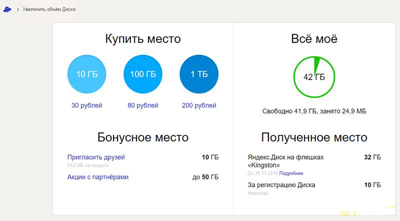 Промокод Яндекс. Диска