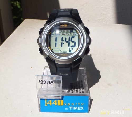 timex 1440 sports watch instructions