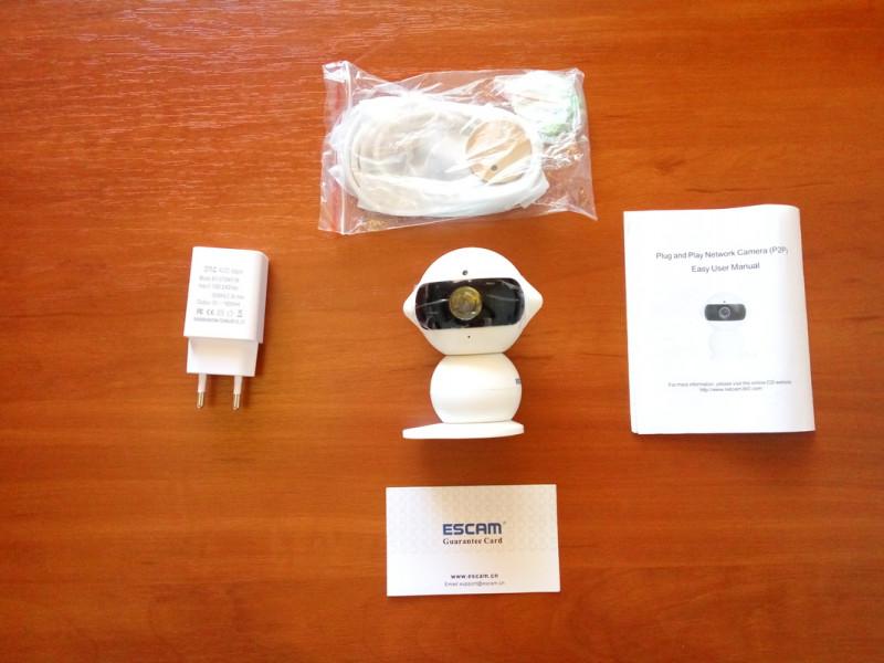 GearBest: Escam Elf QF200 - домашняя IP камера причудливого строения + бебикам/радионяня