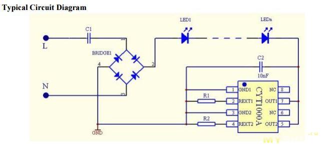 Драйвер для подключения светодиодов 150