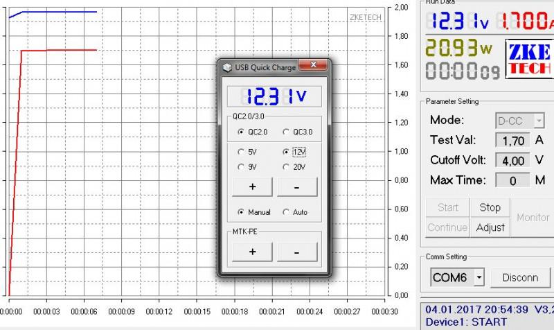 Banggood: Электронная нагрузка EBD-USB+ (ZKEtech)  21V 4A 35W с триггером QC2.0/3.0 MTK-PE