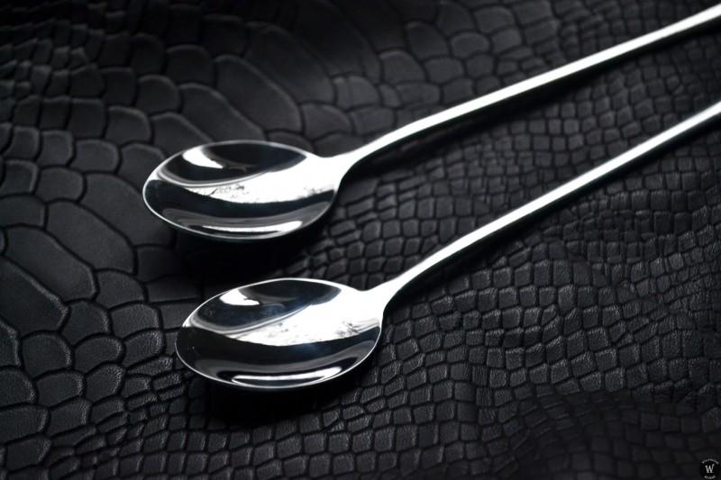 Aliexpress: Пара десертных ложек из нержавеющей стали