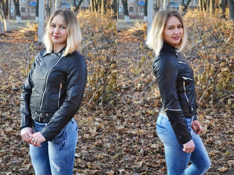 Sammydress: Крутая куртка/косуха из кожзама