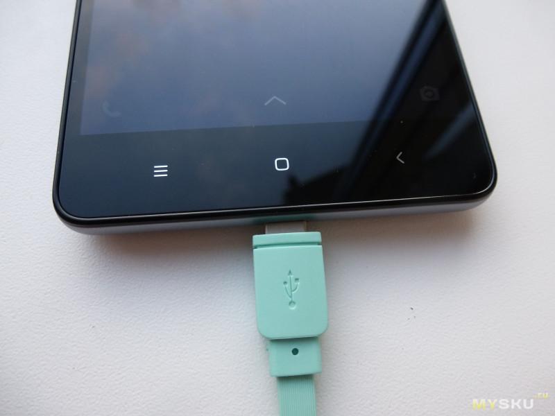 Кабель ALDOM 2 в 1 iPhone/Android 511ADMNS5014 зеленый