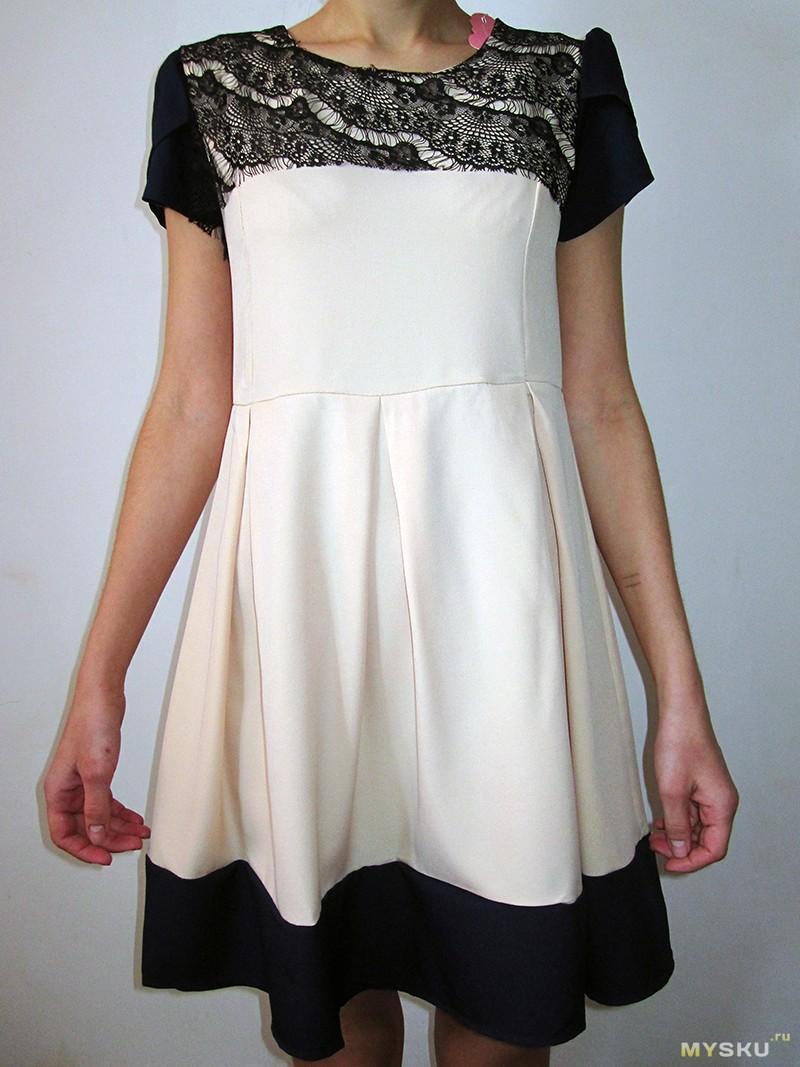 Платье из синтетики