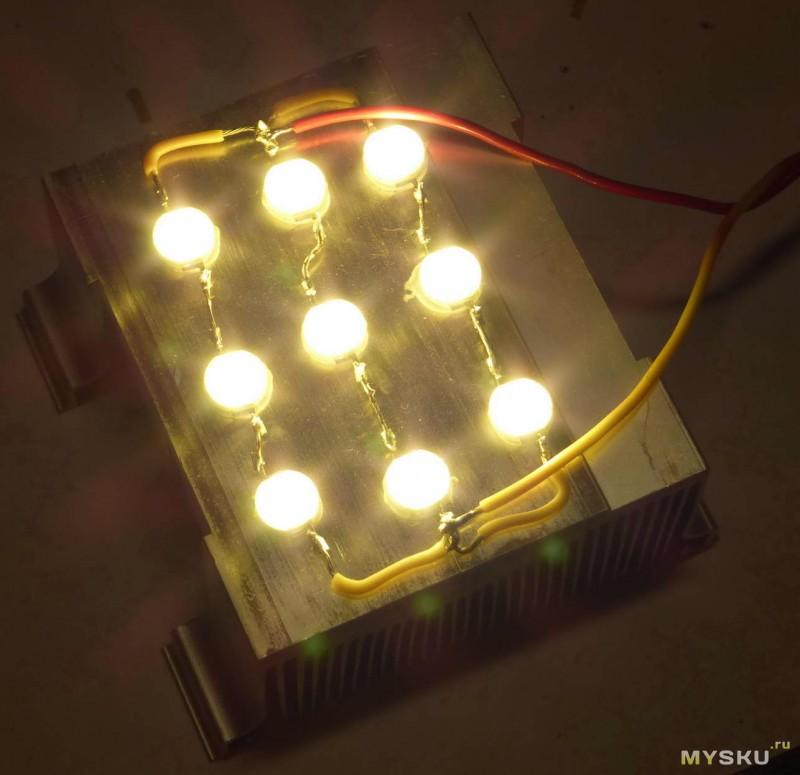 Светильник с светодиодными лампами своими руками 80