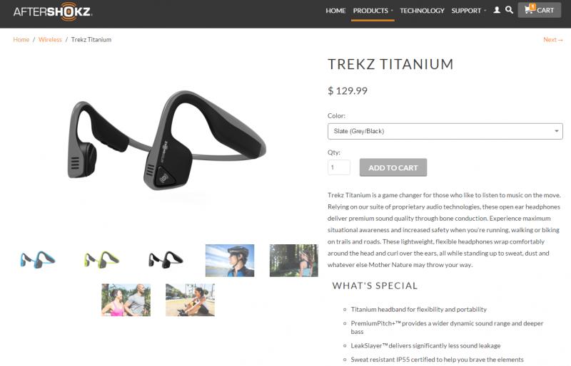 Aftershokz trekz titanium