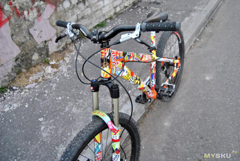 Оклейка велосипеда своими руками 79
