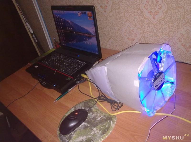 Как сделать вентилятор  для ноутбука
