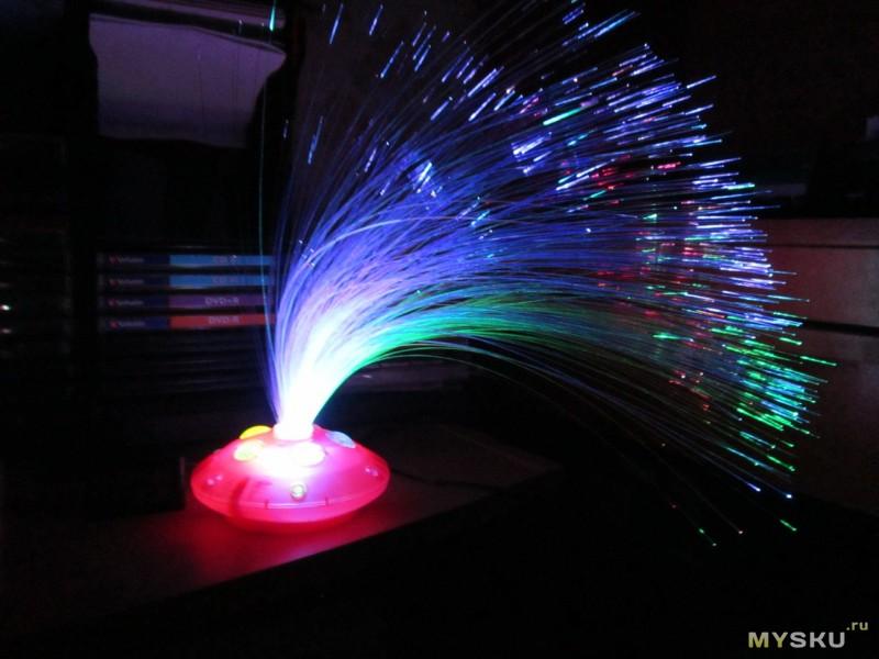 Светильник с оптоволокном