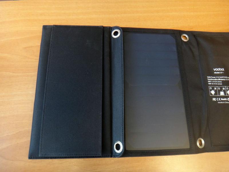 Newfrog: Vodool SSP-1 солнечная панель для зарядки гаджетов 2 USB порта 2 ампера