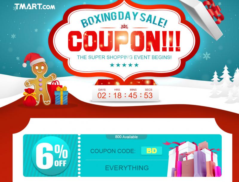 TomTop: Скидочные купоны на -6% и на покупки выше определенной суммы