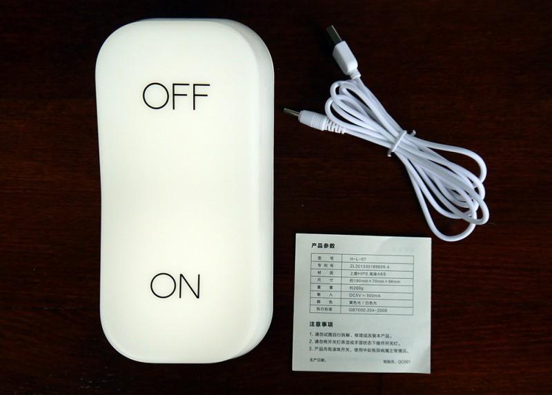 Banggood: Ночник в виде тумблера ON-OFF