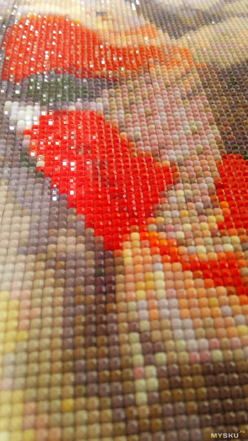 Виды алмазной вышивки мозаики По типу выкладки частичная и