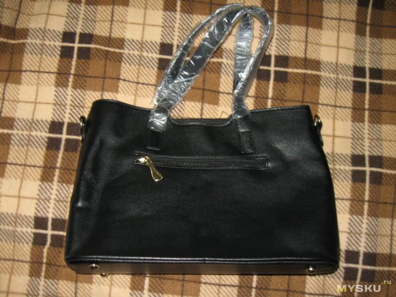 Женская кожаная сумка-трансформер Валентино черная