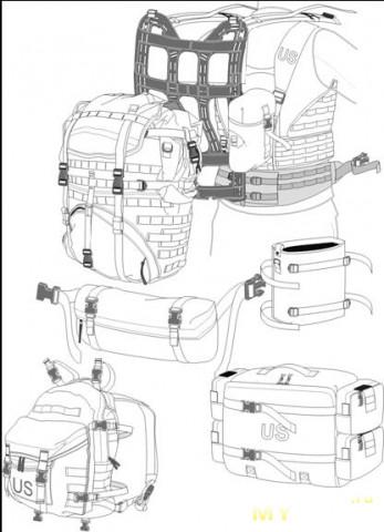 Выкройка рюкзака тактического