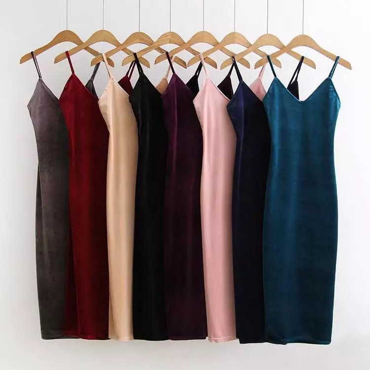 Aliexpress: Длинное бархатное платье винного цвета