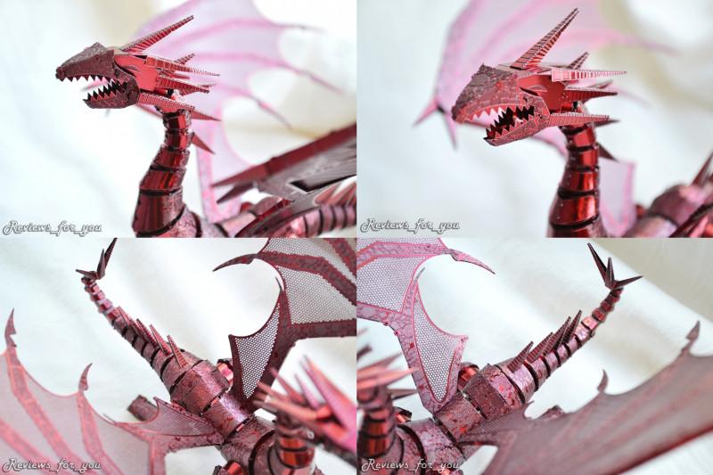 Aliexpress: 'Пламя Дракона', металлический 3D пазл в виде Красного Дракона