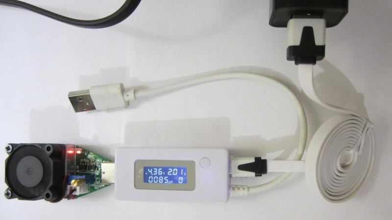 Нагрузка в 2А через кабель