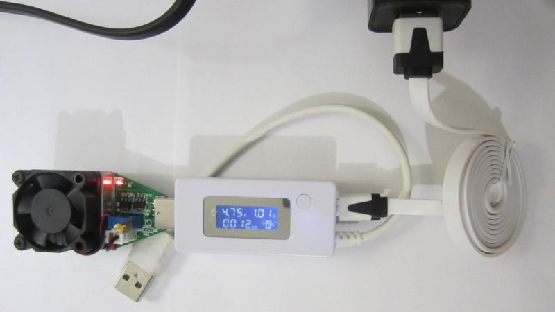 Нагрузка в 1А через кабель