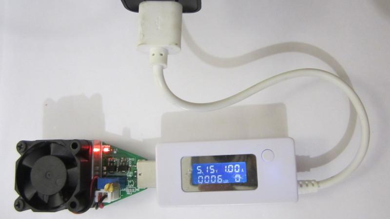 Напряжение выдаваемой зарядкой при нагрузке