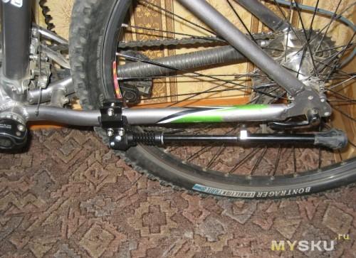 Как сделать на велосипед подножку