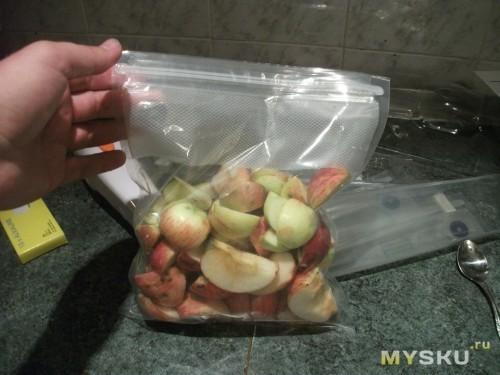 Загрузка продуктов в пакет