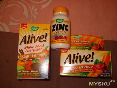 витамины и таблетки с цинком от ангины помогли