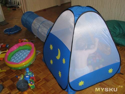 Палатка сзади