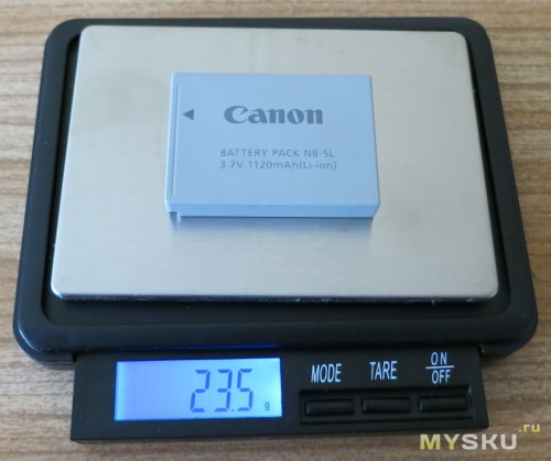Вес родного аккумулятора
