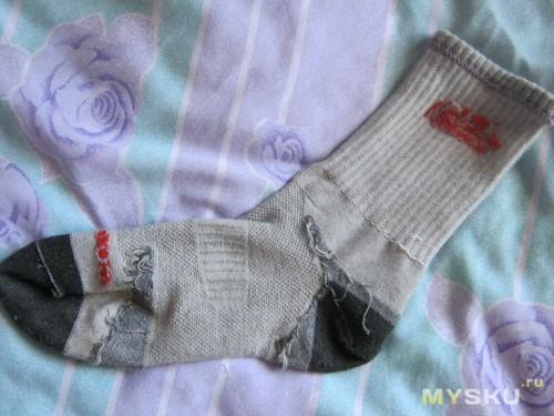 изнанка носка
