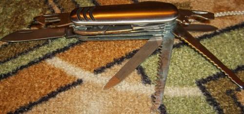 Разложенный нож (не все лезвия)