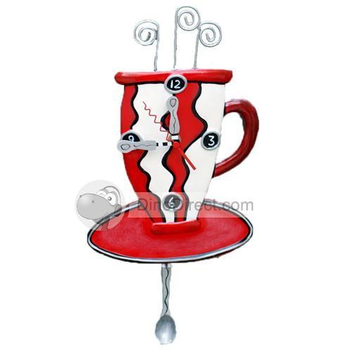 Cup Pattern Handicraft Article Bar Restaurant Wall Clock