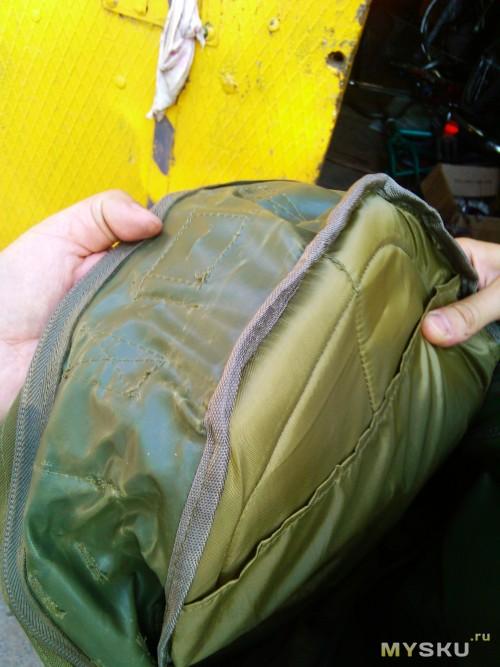 Ну нафига покрывать ПВХ ткань? так, блин, сложно пришить водонепроницаемую подкладку!