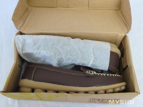 мокасины в коробке