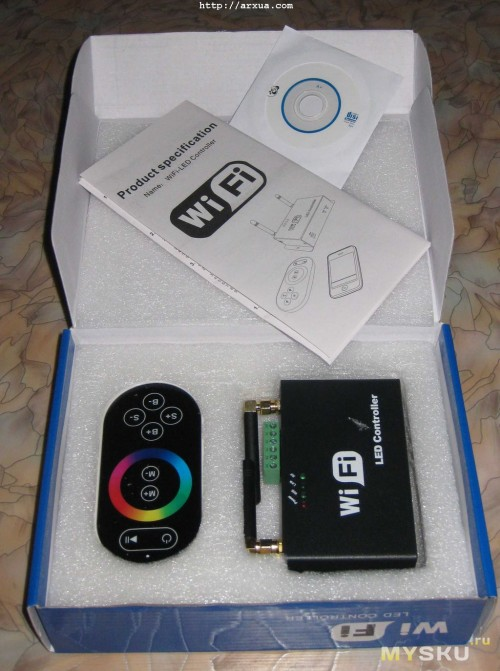 Portable Wireless Wifi Rgb Led Controller For Iphone