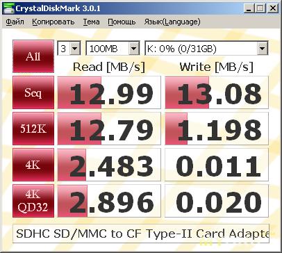 Адаптер с картой DSHC A-Data 32 Gb