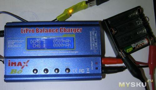 GP 1000 другой аккумулятор. Imax цикл разряд/заряд