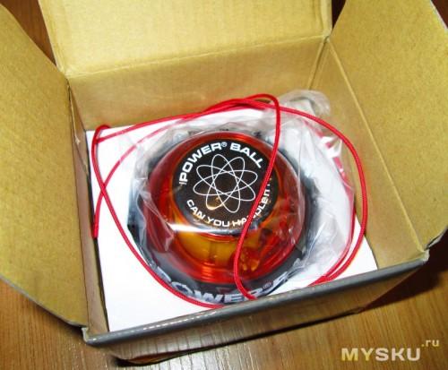 Powerball - упаковка - внутренности коробки