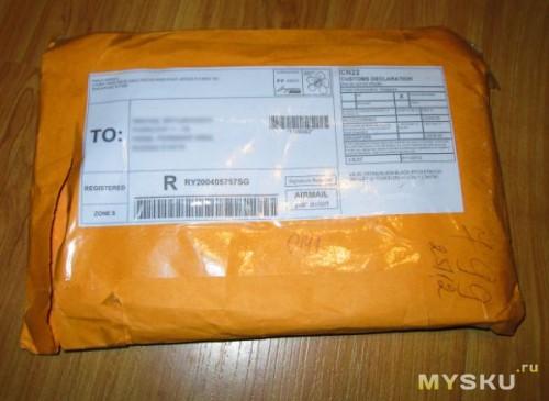 Упаковка - обычный пакет с пупырышками внутри