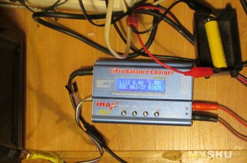N2 разряд с 3.6v до 2v c полного заряда, током 1А
