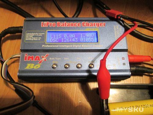 N1 - разряд 0.5A - 128минут, результат 1055mA
